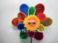 Wholesale Big plastic two layers flower windmill Chidren toys cm length cm diameter