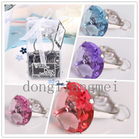 Wholesale wedding favor gift With This Ring Engagement Ring Key Chain Novelty Giant Diamond Keychain Jewelry Gift Box Z48