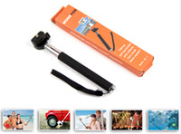 Wholesale Telescopic Handheld Monopod with Tripod Mount Adapter for Sport Camera Gopro HD Hero Rose Camera Photo Equipment