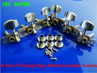Wholesale NEW A Set of Tuning Pegs Machine Heads Tuners Tuner Tuning Keys Pegs Silver Chrome Tip for Classical Guitar