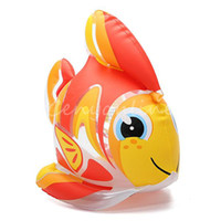 Unisex 2-4 Years Red Kawaii Lovely Cute PVC Animal Inflatable Air-Filled Swimming Pool Shower Gold Fish Toys For Baby Children Kids Birthday Gift