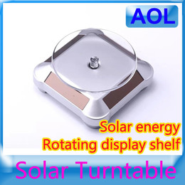 Wholesale Solar Display Stand Solar Energy Power Degree Rotate Solar Turntable Rotary Display Stand such as mobile phones mp4 watches jewelry