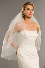 Wholesale Soft Tulle Veil with Beading and Beads Comes with A Comb Bridal Veils Available in White or Ivory Bridal Accessories