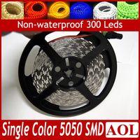 Wholesale LED flat rope light m leds SMD Flexible LED Strips Light Non waterproof DC V Single Color for car bar KTV store decoration