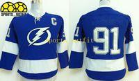 jerseys for kids - 2014 New Lightning Steven Stamkos Jerseys Blue Kids Jerseys Cheap Youth Uniforms Cool Sports Jerseys Ice Hockey Jerseys for Children