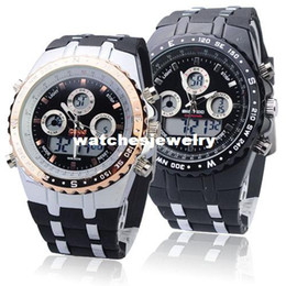 Digital Analog Waterproof Sport Dual Time Watch With Stopwatch Week Alarm Calendar EL Backlight Bistec