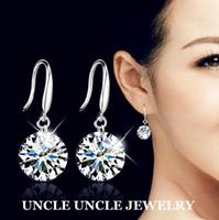 Dangle & Chandelier Women's Gift Classic!!! 925 Sterling Silver Top Swiss Zircon Eight Arrows Eight Heart Lady Hook Earrings