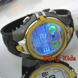 Wholesale OHSEN Yellow Color Men Women Boy Smart Sport Digital AL color BackLight Soft Rubber Strap Wrist Watches New