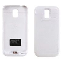 Emergency Chargers   Flip Cover 4800 mah external Power bank battery Cover Case for Samsuang Galaxy S5 S 5 with retail package rechargeable Free Shipping