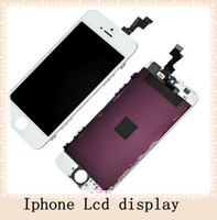 For Apple iPhone LCD Screen Panels  Front Assembly LCD Display Touch Screen Digitizer Replacement Part for iphone 5S Black White Good