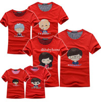 Wholesale Family fitted summer children t shirts new cotton baby T shirts person person