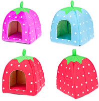Wholesale 1404L Kind of pet products Pet Waterloo strawberry modelling cat dog house cm pet house