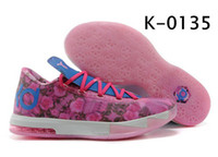 Hight Cut Men Spring and Fall Man Rose Pink KD VI 6 2014 Mens Basketball Shoes Easter Kevin Durant VI KD 6 Mens Basketball Shoes New Color Kd6 Sneakers Size 40-46