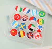 Wholesale 80 mm Diameter Plastic National Flag Flat Head Thumb Tack Nail Map Pin Bubble Nail