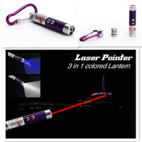Home LED Keychain new New 3 in 1 Laser Pointer Pen LED Flashlight Light Ultraviolet UV Keychain Torch Free shipping 2000pcs
