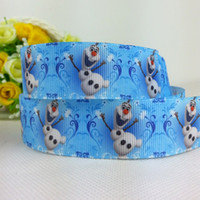 Sewing Tools printed grosgrain ribbon - 1404z yards quot mm Frozen ribbon Elsa ANNA Olaf movie princess girl cartoon printed grosgrain ribbon