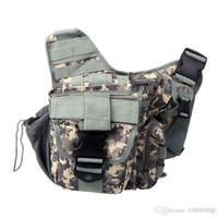 achat en gros de sacs à dos militaires de gros-Vente en gros - Molle Tactical épaule Strap Sac pochette sac à dos Voyage Camera Bag militaire Terre Sports de plein air Sacs H9767