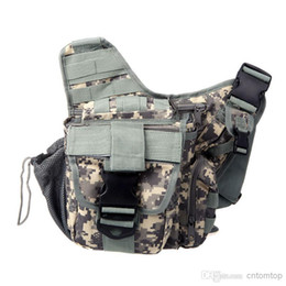 Wholesale Molle Tactical Shoulder Strap Bag Pouch Travel Backpack Camera Military Bag Earth Outdoor Sports Bags H9767