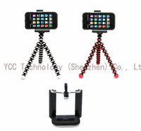 Mini Tripods Aluminum Alloy Digital Camera 1PC Small Flexible Tripod Stand For Universal Digital Camera +1PC Phone Holder Stand for iphone5 5s Samsung Galaxy S3 S4