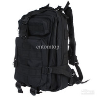 Wholesale L Outdoor Sport Military Tactical Backpack Molle Rucksacks Camping Trekking Bag Black Tan H9388