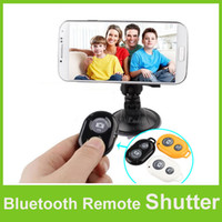 Wholesale Bluetooth AB Shutter Remote Wireless Camera Control Self timer for iPhone S C S Samsung Galaxy S4 Note3 Smartphone Free DHL Shipping