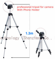 Cheap 1PC Flexible 4 Sections 1050mm Universal 1 4 Metal Professional Tripods With Bag For Sony Canon Nikon + 1PC Phones Holder Stand