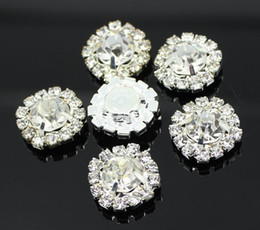 100pcs 15mm Round Rhinestone Embellishments Buttons Flat Back Clear Crystal Cluster Buckle Wedding Decoration