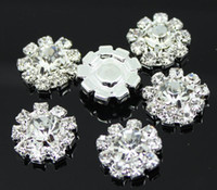 Wholesale ree Shipping DIA mm Round Rhinestone Embellishment Buttons Without Loop Clear Crystal Cluster Buckle