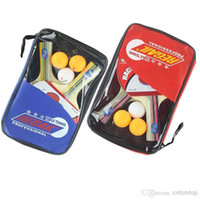 Wholesale Table Tennis Set Racket Ball Racket Pouch Long Handle Shake hand Ping Pong Paddle Balls Sports Accessories H9914 Serie
