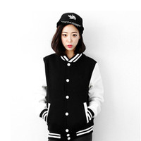 Wholesale Women s baseball uniform fashion brief all match casual outerwear women varsity jacket lovers cardigans