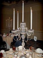 No wedding candelabra - 5 arms Multifunctional crystal candelabra candle lamps Big table lamp Restaurant Wedding candelabrum table light diningroom candleholder