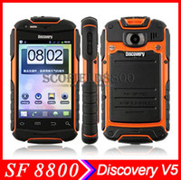 Wholesale Discovery V5 v5 Anti Android Phone quot Smartphone MTK6572 dual core phone Waterproof Dustproof Shockproof IP67 Android G WCDMA MP