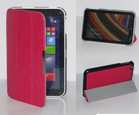 Wholesale Slim Magnetic Crazy Horse Stand Leather Folding Case cover for Toshiba Encore WT8 pc