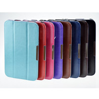 Wholesale Slim Magnetic Crazy Horse Stand Leather Folding cover Case for Toshiba Encore WT8