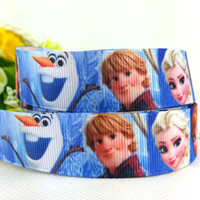 Wholesale 1404z yards quot mm Frozen ribbon Elsa ANNA Olaf movie princess girl cartoon printed grosgrain ribbon