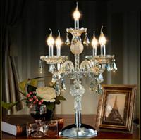 No crystal candelabra - Bar table light crystal candelabra lamps lights Big luxury Candlestick Restaurant table lamp diningroom candle holder