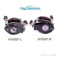 Wholesale Trulinoya DW1000 BB Left Hand Bait Casting Fishing Reel Ball Bearings One way Clutch Black H10307