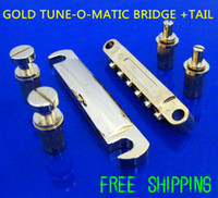 Wholesale NEW Gold Set Guitar Parts High Quality Genuine Guitar LP Bridge Tune o matic Bridge Tail Electric Guitar LP