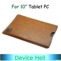 Wholesale 10 inch Leather Sleeve Case for Tablets cube U30GT sanei n10 zenithink c91 all flytouch series
