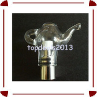 Wholesale WL EC Wax Globe Tea Pot Glass Globe Ceramic Atomizer Vaporizer Dry Herb Teapot Atomizer Tank Kit Kits