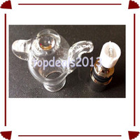 Wholesale WL EC Newest Wax Globe Glass Tea Pot Globe Ceramic Atomizer Vaporizer Dry Herb Teapot Atomizer Coil Core Kit Thread E Cigar