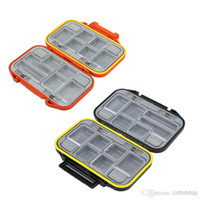 Tackle Storage fishing tackle boxes  Wholesale - New arrival 12 Compartments Waterproof Storage Case Fly Fishing Lure Spoon Hook Bait Tackle Box H9793
