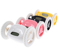 alarm clock run away - New Home Runaway Clocky Run away Running Alarm LCD Display Moving Wheels Clock