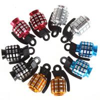 Wholesale 80PCS x Motorcycle Modified Parts Grenade Shape Tire Tyre Valve Cap Gas Nozzle MOT_305
