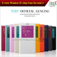 For Samsung note 3 Leather For Christmas 1:1 Official S View Flip Cover Case for Samsung Galaxy Note 3 N9000 Note3 with Senor Chip Dormancy Function Automatic Wake up Sleep Funtion