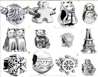 Wholesale 8 off European charm Bead silver beads for Pandora bracelet necklace kinds of style Jewelry DROP SHIPPING