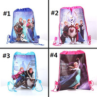 Wholesale frozen ice princess romance woven double sided printing Drawstring Bag Drawstring bags LK4023