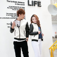 Jackets varsity jacket - Plus size varsity jacket fashion women s men s leather baseball jacket love set outwear sportwear