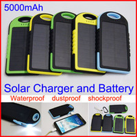 solar flashlight - Waterproof mAh Solar Charger and Battery Solar Panel Dual Ports portable power bank With Flashlight for Cell phone Laptop Camera Mobile
