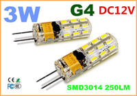 Wholesale 2014 new W G4 LED SMD Warm White Light Bulb Lamp DC12V led Cool White Spotlight LM Silicone Crystal Light